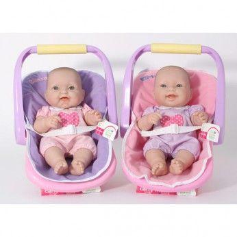 Papusa bebe,in scaun masina+suzeta,36cm,JC Toys