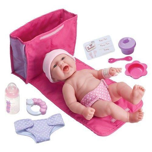 Papusa bebe,cu geanta schimburi,33cm,JC Toys