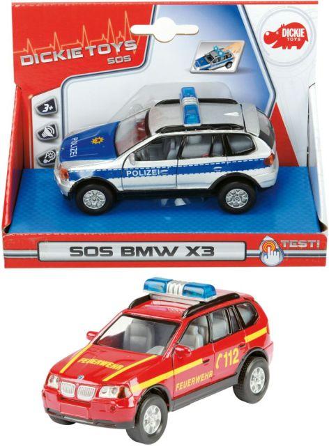 Masina SOS,Dickie,sunete,lumini,BMW X3