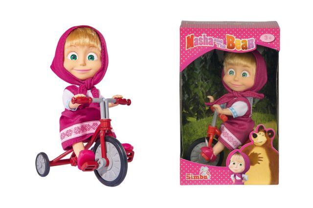 Papusa Masha and the Bear,pe bicicleta