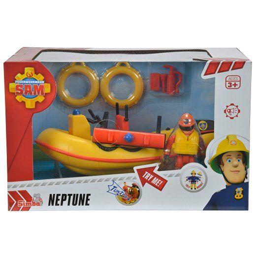 Barca pompierul Sam,Neptun,cu figurine