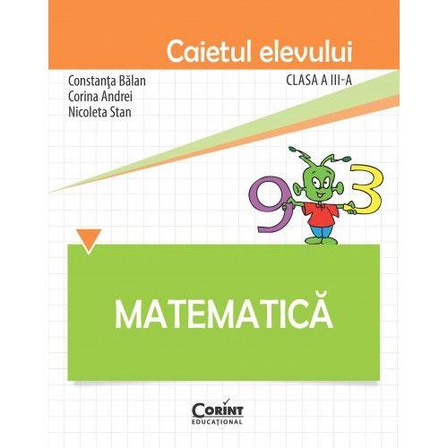 CAIET ELEV CLS. A III-A MATEMATICA