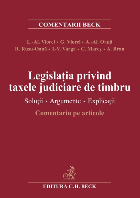 LEGISLATIA PRIVIND TAXELE JUDICIARE DE TIMBRU