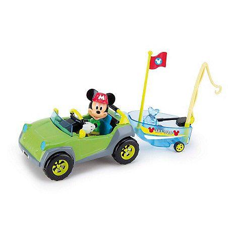 Vehicul 4x4,cu barca si figurina,Mickey