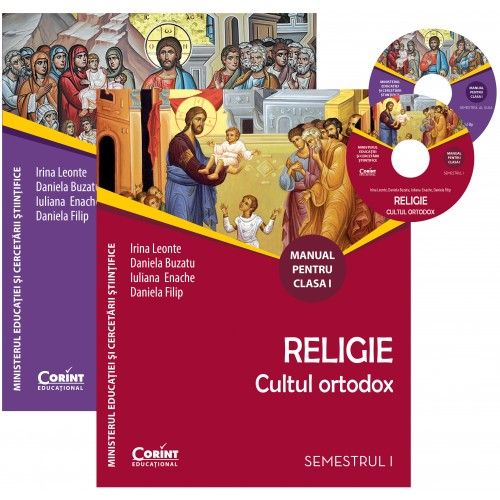 MANUAL CLS. I RELIGIE CULTUL ORTODOX + CD (2 VOL)