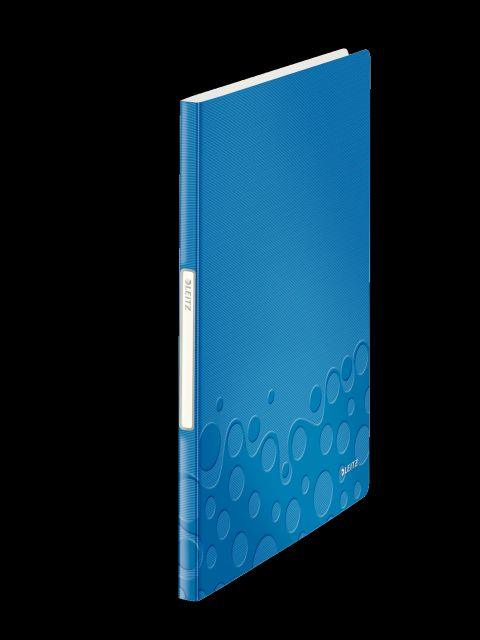 Mapa prexentare Leitz Wow,A4,20file,albastru metalizat