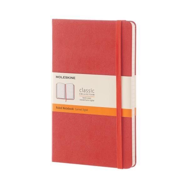 Agenda A5,Moleskine Colored,rosu,liniat