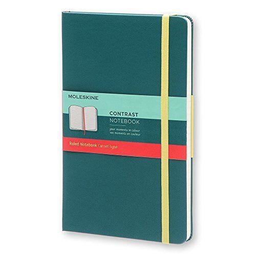Agenda A5,Moleskine Contrast,verde,dict