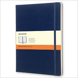 Agenda 19x25cm,Moleskine Colored,bleu,liniat