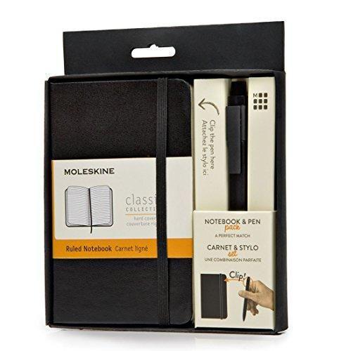 Set agenda A6+pix,Moleskine Professionall,negru