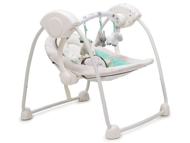 Leagan Electric Bebelusi CANGAROO Baby Swing Verde