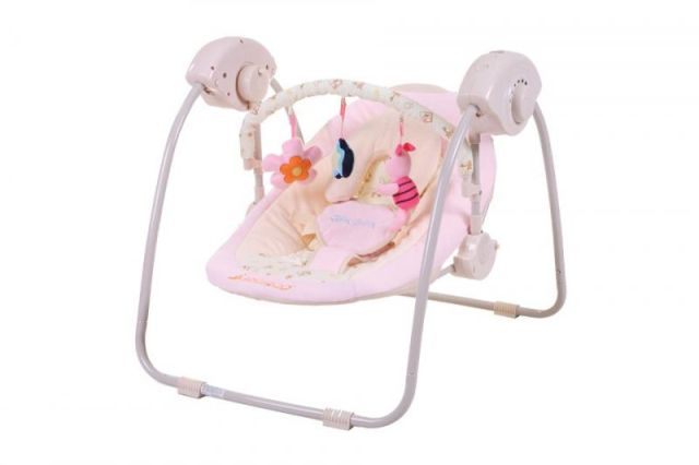 Leagan Electric Bebelusi CANGAROO Baby Swing Roz