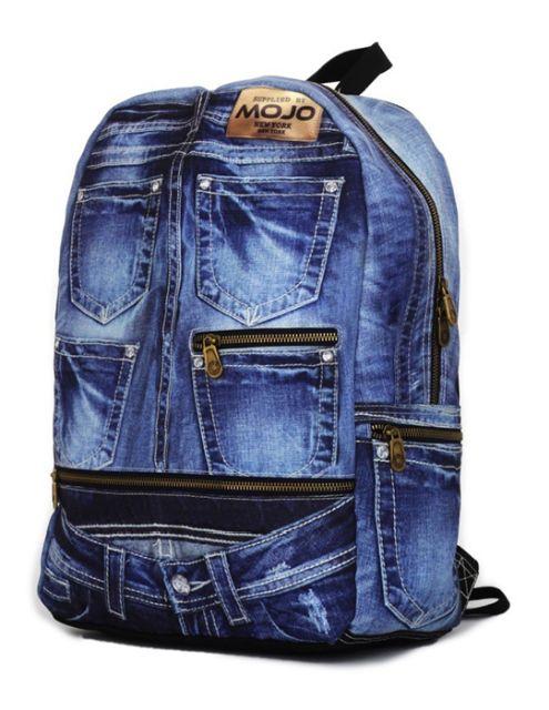Rucsac Mojo,43cm,Denim Jeans