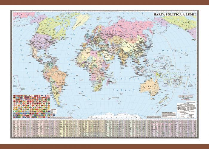 Harta lumii,politica,70x100cm