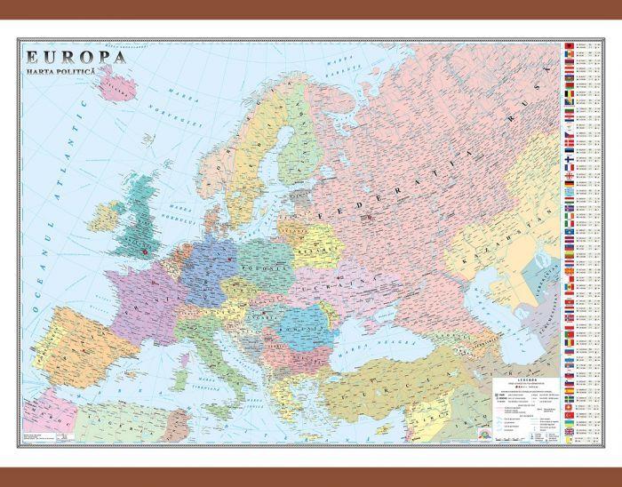 Harta Europa,politica,140x200cm
