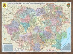 Harta Romania,administrativa,47x60cm,3D