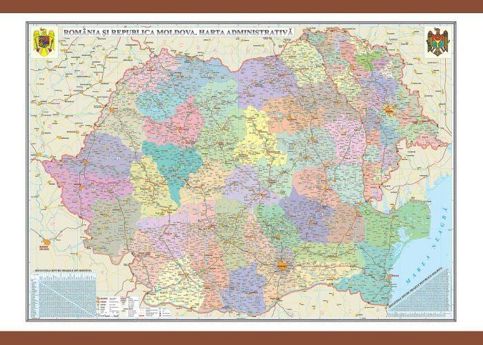 Harta Romania,administrativa,140x200cm