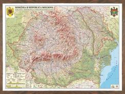Harta Romania,fizica,70x100cm,3D