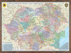Harta Romania,administrativa,70x100cm,3D