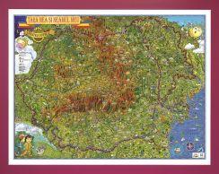 Harta Romania,tara si neamul meu,70x100cm,3D