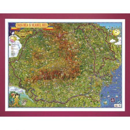 Harta Romania,tara si neamul meu,100x140cm,3D
