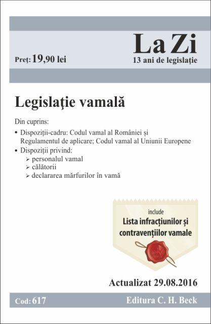 LEGISLATIE VAMALA LA ZI COD 617 (ACT 29.08.2016)