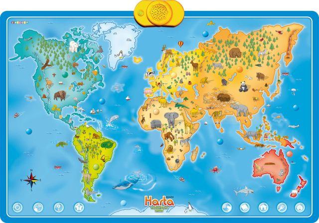Harta interactiva cu animale Momki