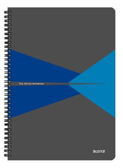 Caiet spira,A5,Leitz,carton,albastru,dict
