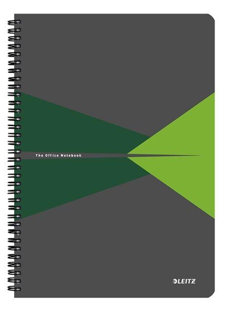 Caiet spira,A5,Leitz,PP,verde,dict