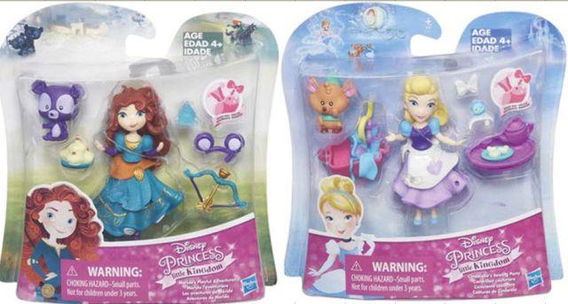 Papusa Disney,Princess mini,cu animalut,div.mod.
