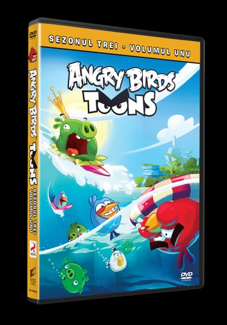ANGRY BIRDS TOONS S03 V01 DVD - ANGRY BIRDS TOONS - SEZONUL 3, VOLUMUL 1