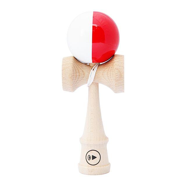 Kendama Pro K - split red & white