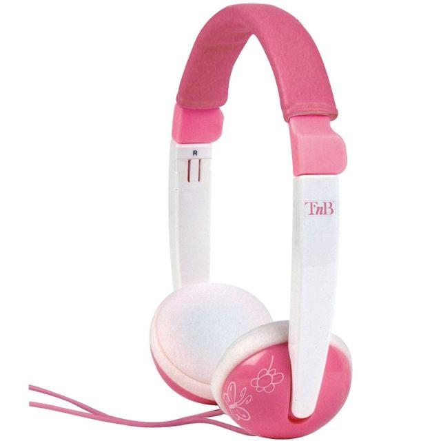 Casti pentru copii TnB, roz