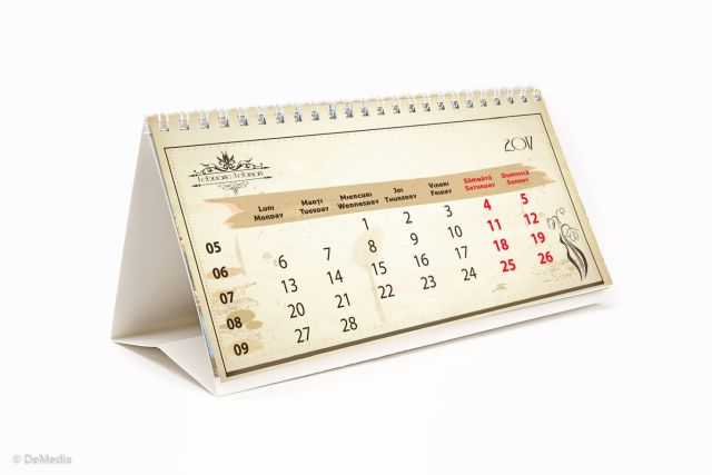 Calendar birou 10.5x14cm,Vintange,6f,2017