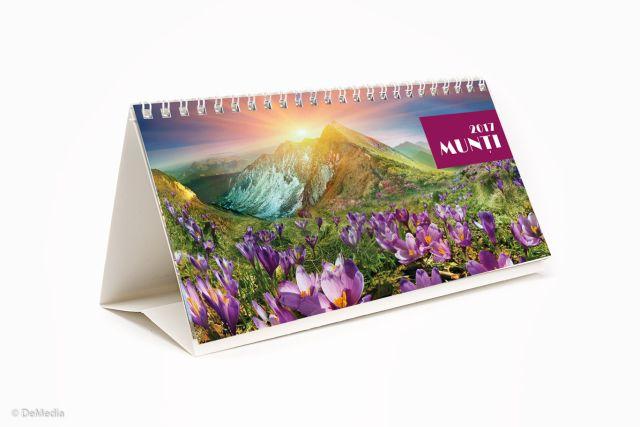 Calendar birou 21x11cm,Munti,12f,2017