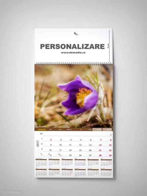 Calendar perete 33x48cm,Flori,12f,2017