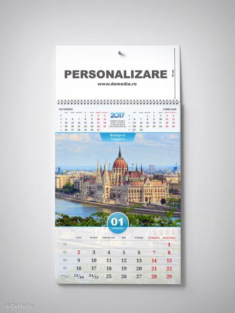 Calendar perete 33x48cm,Europa,12f,2017