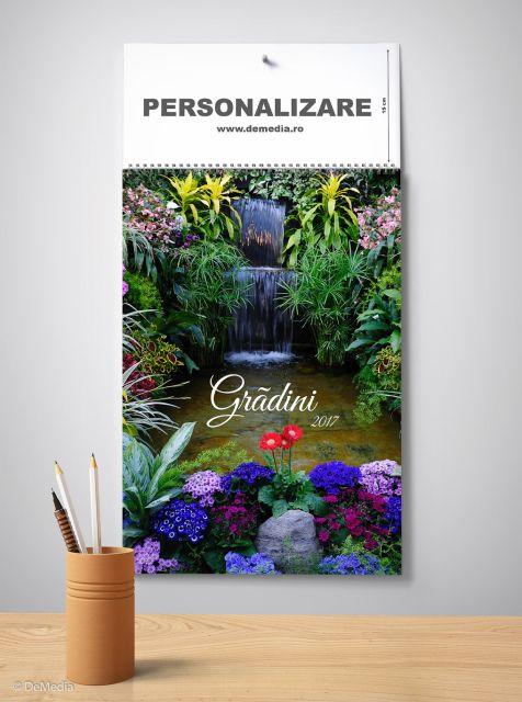 Calendar perete 33x48cm,Gradini,12f,2017