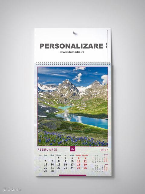 Calendar perete 33x48cm,Munti,12f,2017