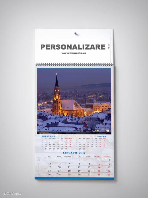Calendar perete 33x48cm,Romania,12f,2017