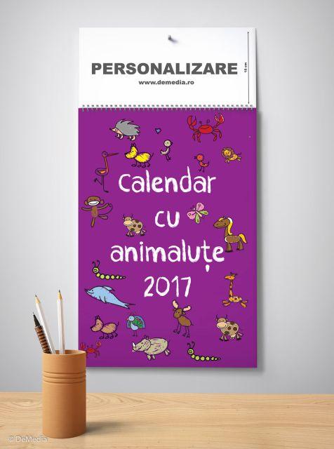 Calendar perete 33x48cm,Animalute,12f,2017