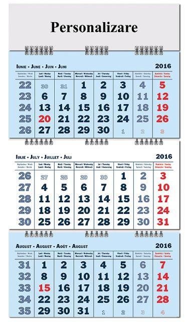 Calendar perete 40x60cm,12f,pliabil,2017