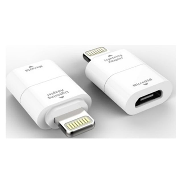 Adaptor MicroUSB - Apple Lightning, Alb