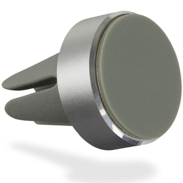 Suport auto magnetic pentru telefon, prindere ventilatie, Argintiu