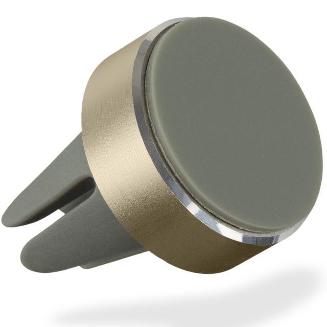 Suport auto magnetic pentru telefon, prindere ventilatie, Auriu