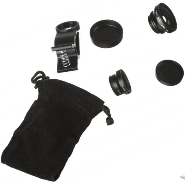 Set lentile telefon 3 in 1 (Macro, Fish-eye, Wide Angle)