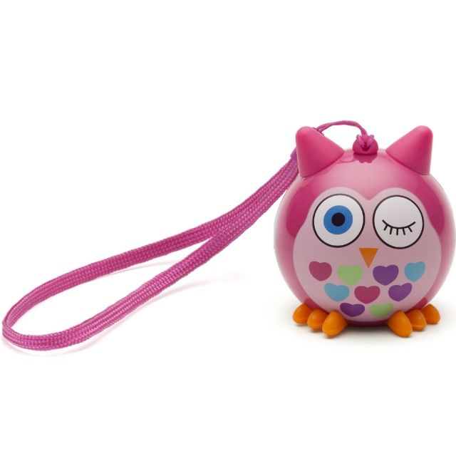 Boxa portabila KitSound Mini Buddy Owl, Mica, bluetooth
