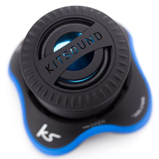 Boxa portabila KitSound Invader, cu fir, Negru