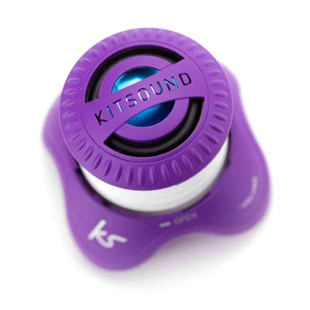 Boxa portabila KitSound Invader, cu fir, Violet