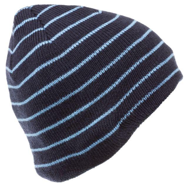 Caciula Blue Stripe, cu casti integrate, mufa de 3.5mm, Albastru